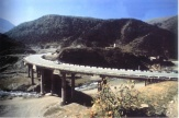The bridge over the Lya-Don river on PK 169 of the motorway through the Roksky Passover of the Greater Caucasus Mountain Range (connecting Russia and Georgia)