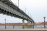 The city motorway bridge through the Volga River